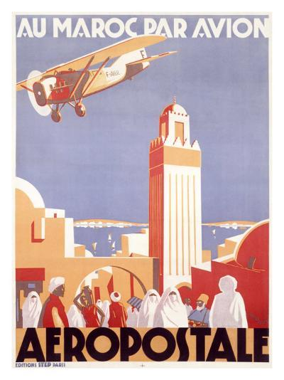 Marocco via Aeropostale Airline--Giclee Print