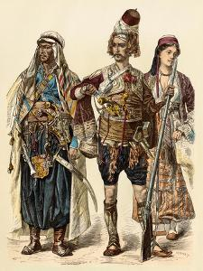 Maronite of Lebanon (Left), Armed Zeibek, and Christian Lebanese Woman