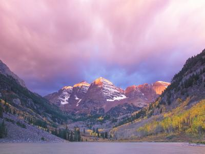 Maroon Bells Snowmass Wilderness at Dawn, Colorado, USA-Rob Tilley-Photographic Print
