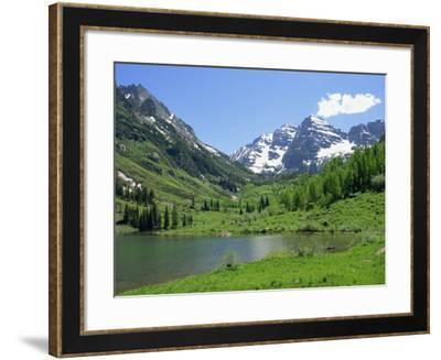 Maroon Lake Near Aspen, Colorado, United States of America, North America-Westwater Nedra-Framed Photographic Print