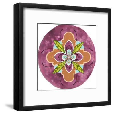 Maroon Mandala I-Rebekah Ewer-Framed Art Print
