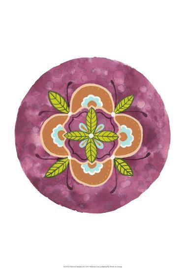 Maroon Mandala II-Rebekah Ewer-Art Print