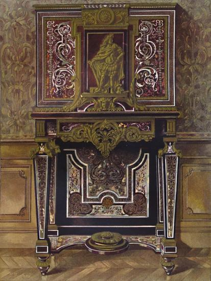 'Marquery Cabinet with decoration in gilt bronze, by AndrÚ Charles Boule', 1903-Unknown-Giclee Print
