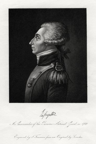 Marquis De Lafayette, French Military Leader and Statesman, 1845-S Freeman-Giclee Print