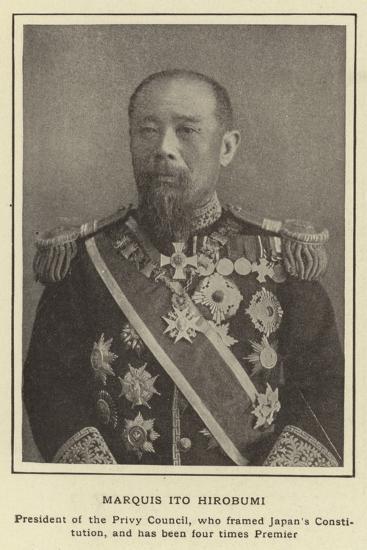 Marquis Ito Hirobumi--Photographic Print