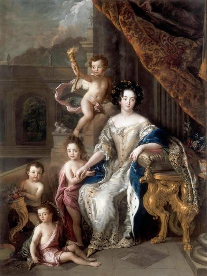 Marquise De Montespan (1640-170) and Her Children-Charles de La Fosse-Giclee Print