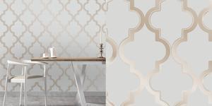 Marrakesh Bronze Grey Self Adhesive Wallpaper