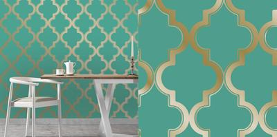 Marrakesh Honey Jade Self-Adhesive Wallpaper
