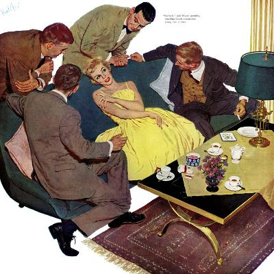 "Marriagable Age - Saturday Evening Post ""Men at the Top"", December 13, 1958 pg.28-Kurt Ard-Giclee Print"