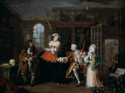 Marriage A-La-Mode: 3, the Inspection, C1743-William Hogarth-Giclee Print