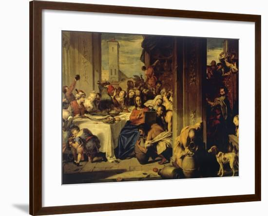 Marriage at Cana, 1728, Painting by Nicolas Vleughels (1668-1737), France, 18th Century-Nicolas Vleughels-Framed Giclee Print