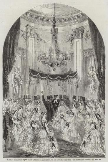 Marriage Ceremonial of the Baron Alphonse De Rothschild and Miss Leonora Rothschild--Giclee Print