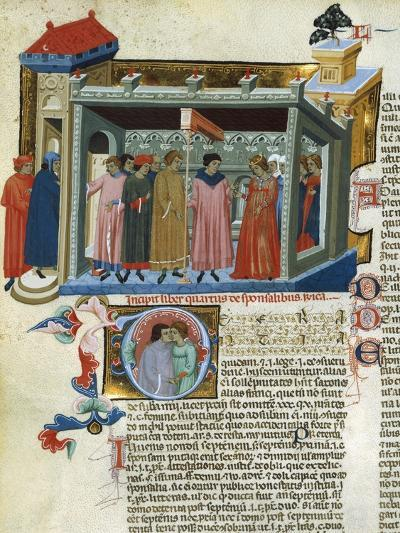 Marriage Contract, Miniature from the Decretals--Giclee Print