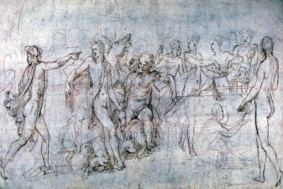 Marriage Feast of Cupid and Pscyhe, C1520-1546-Giulio Romano-Giclee Print
