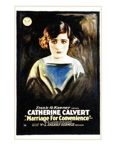 Marriage For Convenience - 1919--Giclee Print