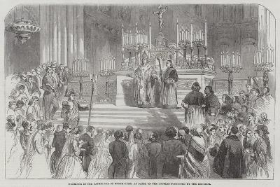 Marriage in the Cathedral of Notre Dame, at Paris, of the Couples Portioned by the Emperor--Giclee Print