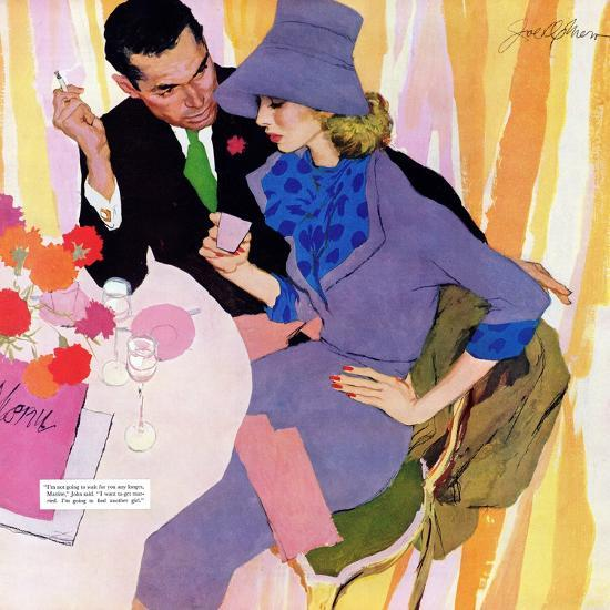 "Marriage Is Not For Me  - Saturday Evening Post ""Leading Ladies"", June 15, 1957 pg.40-Robert Meyers-Premium Giclee Print"