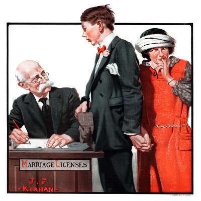 """""""Marriage License,""""April 14, 1923-J^F^ Kernan-Giclee Print"""