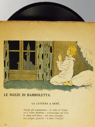 Marriage of Dolls, Children's Music Record, Italy, Early 20th Century--Giclee Print