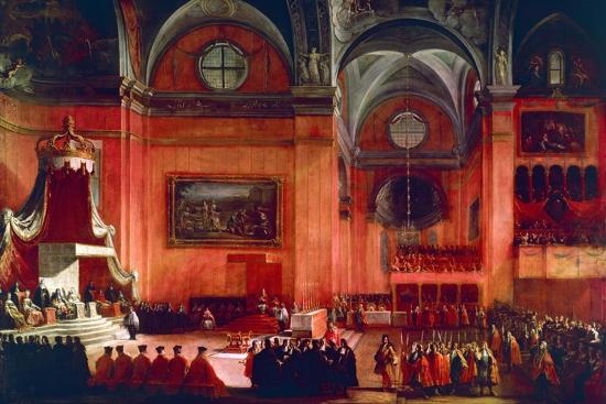 Marriage of Elizabeth Farnese and Philip V of Spain, Parma, Italy, 1714--Giclee Print