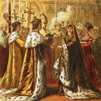 Marriage of Henry Vii-English-Giclee Print