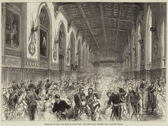 Marriage of Hrh the Duke of Connaught, Dejeuner in St George's Hall, Windsor Castle--Giclee Print