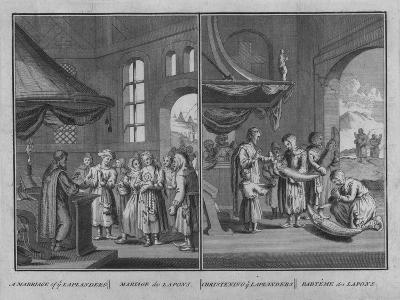 Marriage of Laplanders - Christening of Laplanders, 1726-Claude Dubosc-Giclee Print