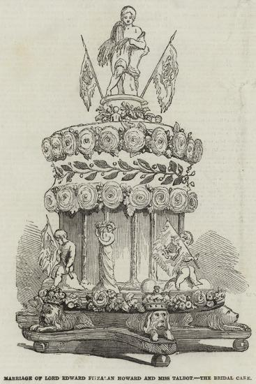 Marriage of Lord Edward Fitzalan Howard and Miss Talbot, the Bridal Cake--Giclee Print