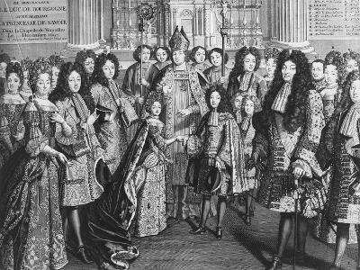 Marriage of Louis De France (1682-1712)--Giclee Print
