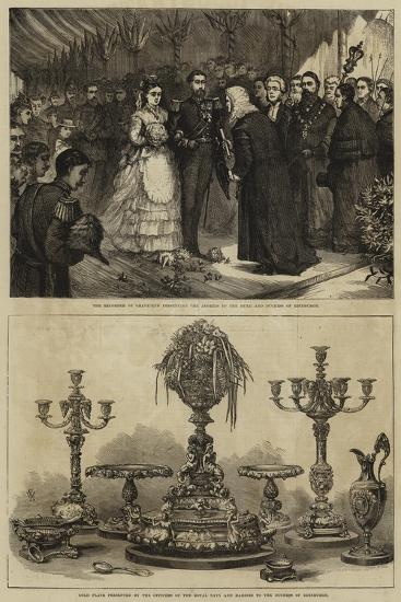 Marriage of Maria Alexandrovna and the Duke of Edinburgh--Giclee Print