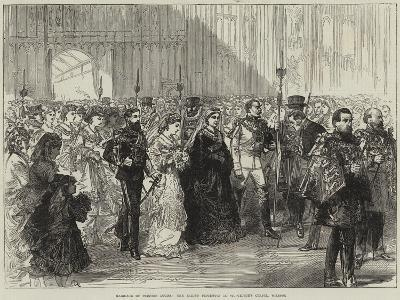 Marriage of Princess Louise, the Bride's Procession in St George's Chapel, Windsor--Giclee Print