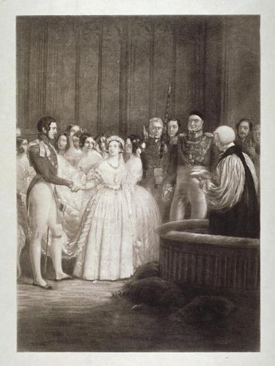 Marriage of Queen Victoria and Prince Albert, St James's Palace, Westminster, London, 1840-George Hayter-Giclee Print