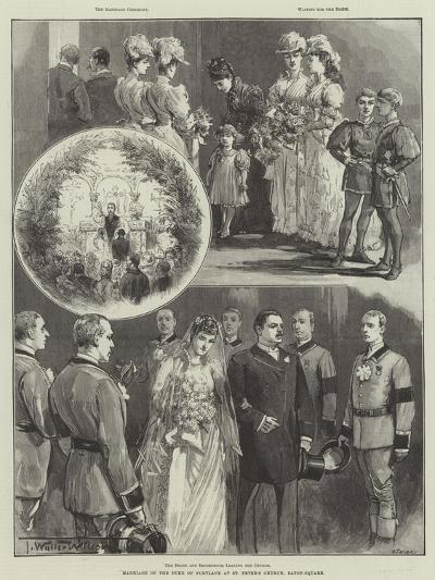 Marriage of the Duke of Portland at St Peter's Church, Eaton-Square-Thomas Walter Wilson-Giclee Print
