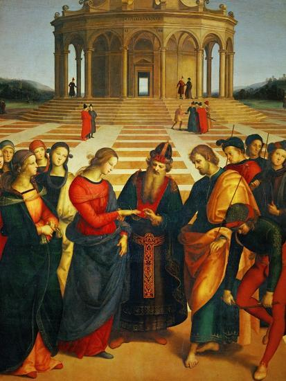 Marriage of the Virgin, 1504-Raphael-Giclee Print