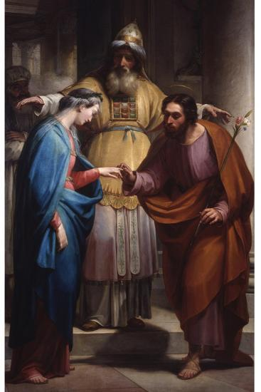 Marriage Of The Virgin Mary And Joseph Before The Priest Art Print By Pietro Pietro Gagliardi Art Com