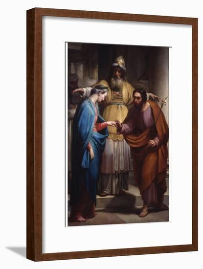 Marriage of the Virgin (Mary and Joseph before the Priest)-Pietro Pietro Gagliardi-Framed Art Print