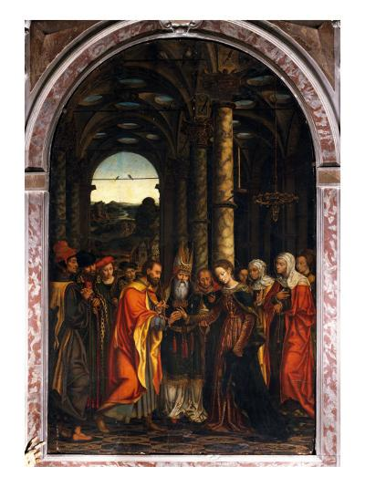 Marriage of the Virgin or Altarpiece Dondo--Giclee Print