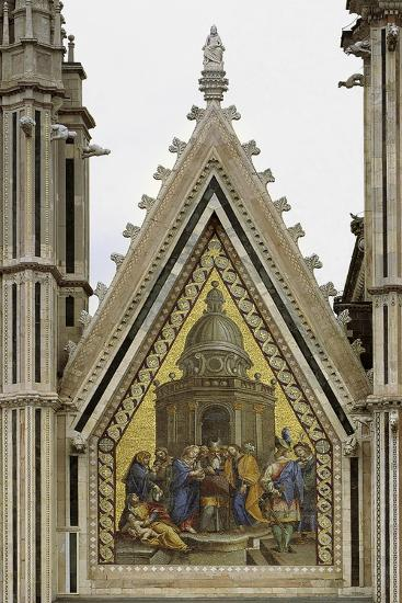 Marriage of Virgin, Decorative Mosaic from Left Cusp, Facade of Orvieto Cathedral--Giclee Print