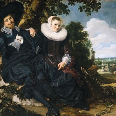 Marriage Portrait of Isaac Massa and Beatrix van der Laen-Frans Hals the Elder-Photographic Print