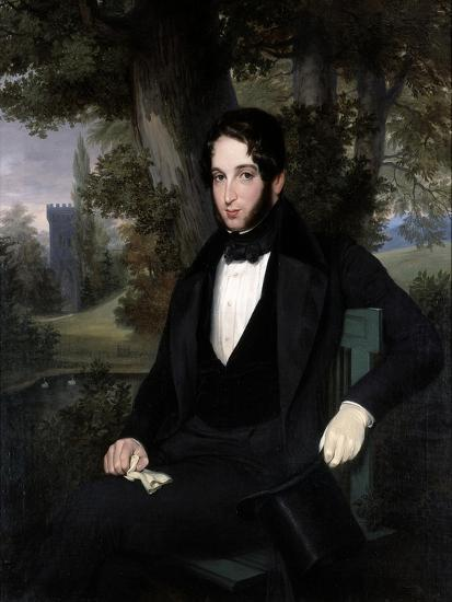 Marriage Portrait of Lionel Nathan Rothschild, 1836-Moritz Daniel Oppenheim-Giclee Print