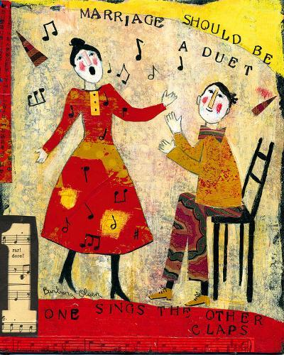 Marriage Should Be A Duet-Barbara Olsen-Giclee Print
