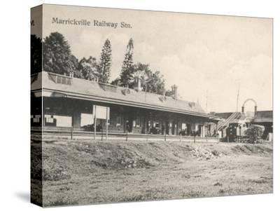 Marrickville Railway Station, New South Wales, Australia in the 1900s