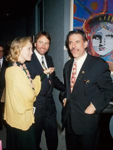 Married Actors Nancy Morgan and John Ritter with Artist Peter Max