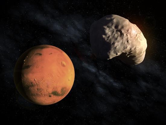 Mars and Deimos, Artwork--Photographic Print