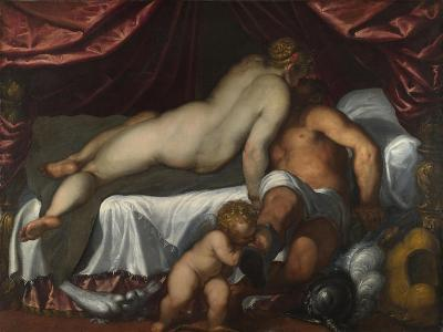 Mars and Venus, Ca 1590-Jacopo Palma il Giovane the Younger-Giclee Print