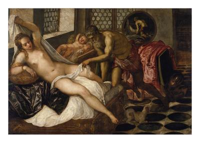 Mars and Venus Surprised by Vulcan-Jacopo Robusti Tintoretto-Giclee Print