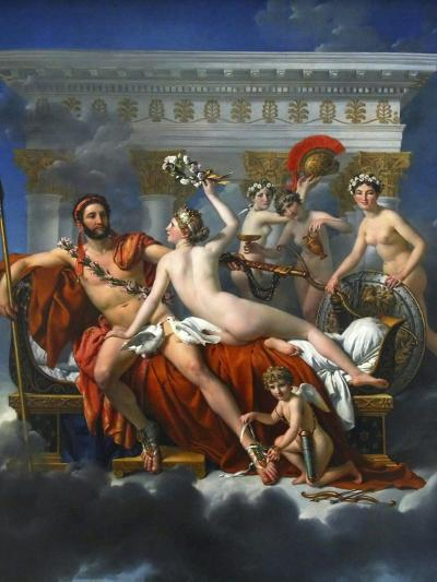 Mars Being Disarmed by Venus, 1824-Jacques Louis David-Giclee Print