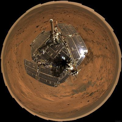 Mars Exploration Rover on the Surface of Mars-Stocktrek Images-Photographic Print