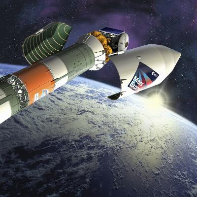 Mars Express Launch, Artwork-David Ducros-Photographic Print