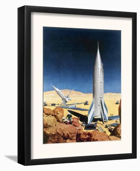 Mars Mission, 1950S-Chesley Bonestell-Framed Giclee Print